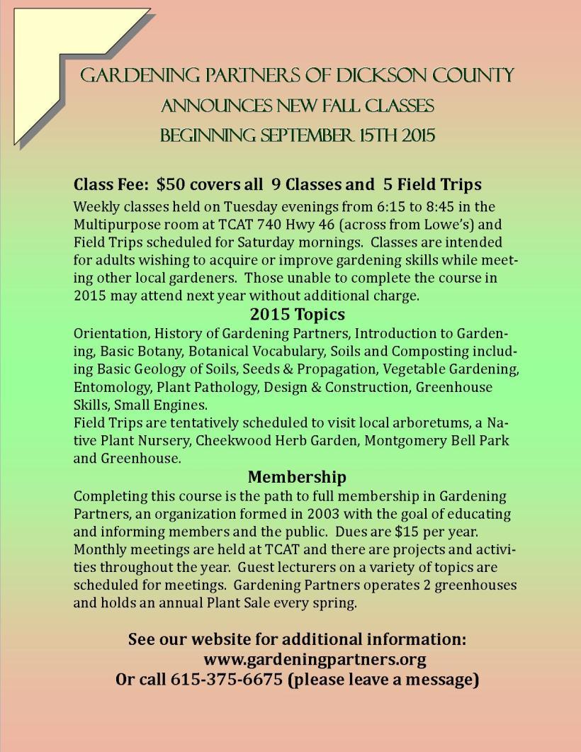 GP class flyer 2015 2 color